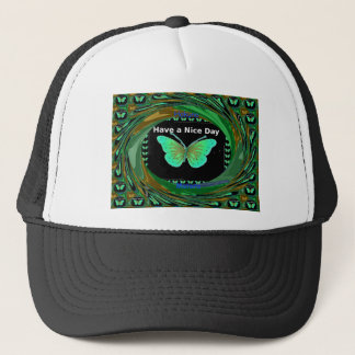 Have a Nice Day and a better night butterfly.png Trucker Hat