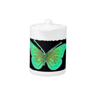 Have a Nice Day and a better night butterfly Teapot