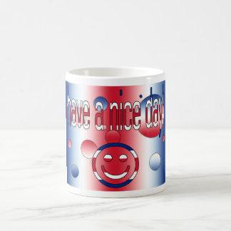 Have a Nice Day! Britain Flag Colors Pop Art Coffee Mug