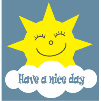 Have a nice day brooch statuette