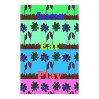 Have a Nice Day Eat Love Play colorful ideas Stationery