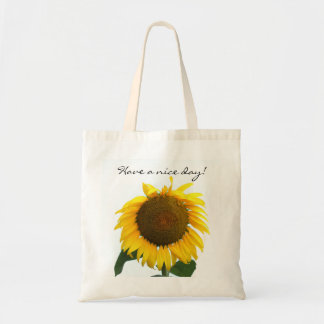 Have a nice day featuring sunflower tote bag