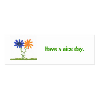 Have a nice day, gift, give away cards mini business card