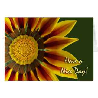 Have a Nice Day Greeting Card, Gazania Flower Card