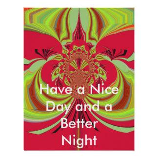 Have a Nice Day Hakuna Matata red yellow design Letterhead