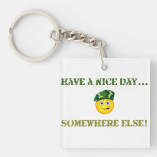 Have a Nice Day Keychain