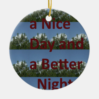 Have a nice day.png Double-Sided ceramic round christmas ornament