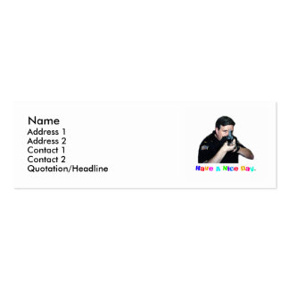 Have A Nice Day Profile Card Double-Sided Mini Business Cards (Pack Of 20)