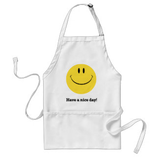 Have a nice day retro happy face apron