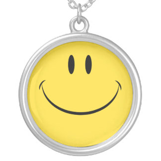 Have a nice day retro smiley face necklace