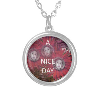 Have a Nice Day Silver Plated Necklace
