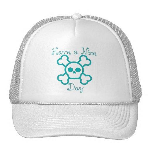 Have a Nice Day Skull & Crossbones Baseball Hat