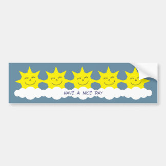 Have A Nice Day smiling cartoon suns Bumper Sticker
