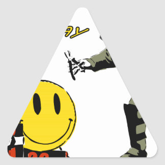 Have a nice day... triangle sticker