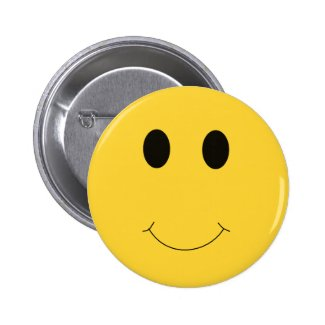 Have A Nice Day Yellow Smile Face Button Favor