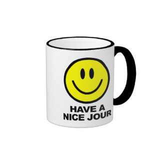 Have a Nice Jour Ringer Coffee Mug
