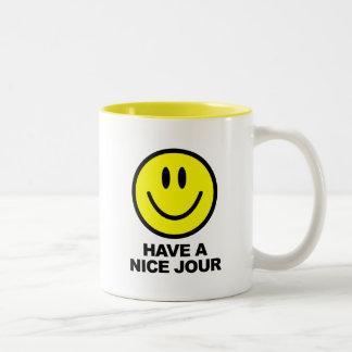 Have a Nice Jour Two-Tone Coffee Mug