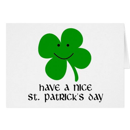 Have a Nice St. Patrick's Day Greeting Card