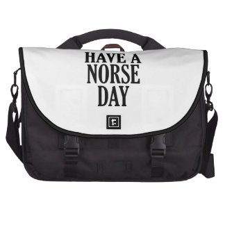 Have A Norse Day Laptop Messenger Bag