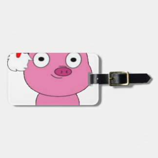 Have a pink pig vegan Christmas Bag Tag