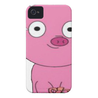 Have a pink pig vegan Christmas iPhone 4 Cover