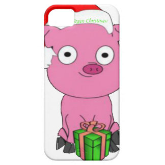 Have a pink pig vegan Christmas iPhone SE/5/5s Case