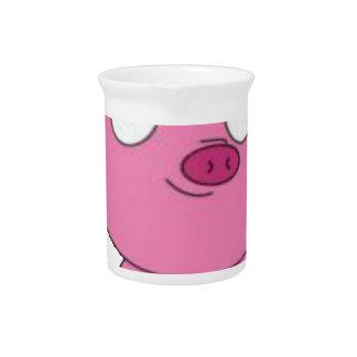 Have a pink pig vegan Christmas Pitcher
