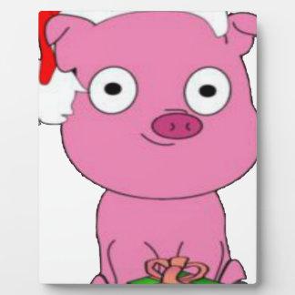 Have a pink pig vegan Christmas Plaque