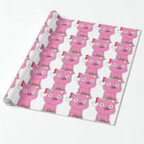 Have a pink pig vegan Christmas Wrapping Paper