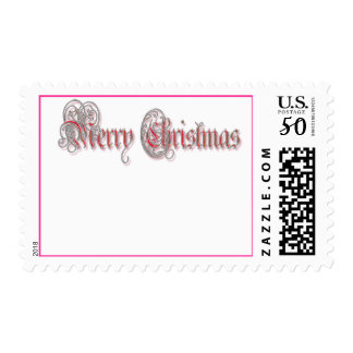 HAVE A PINK PINK CHRISTMAS by SHARON SHARPE Postage