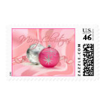 HAVE A PINK PINK CHRISTMAS by SHARON SHARPE Postage Stamp