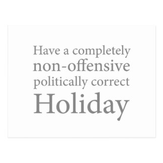 Have a Politically Correct Holiday Postcard