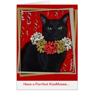 Have a Purrfect KissMouse... Card