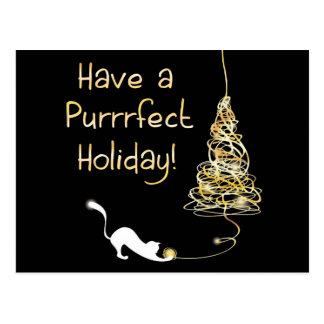 Have a Purrrfect Holiday Postcard
