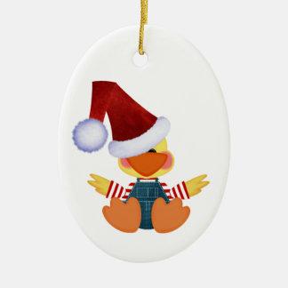 Have a Quacky Christmas Ceramic Ornament
