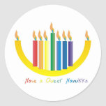 Have a Queer Chanukah Classic Round Sticker