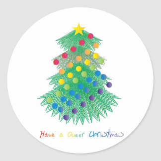 Have a Queer Christmas Classic Round Sticker