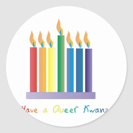 Have a Queer Kwanza Classic Round Sticker