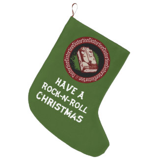 Have A Rock and Roll Christmas Distortion Pedal 2 Large Christmas Stocking