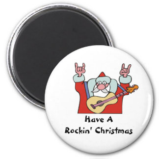Have A Rockin' Christmas 2 Inch Round Magnet