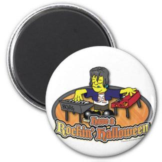 Have a Rockin' Halloween 2 Inch Round Magnet