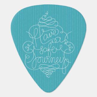 Have a Safe Journey Guitar Pick
