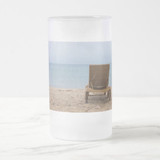 Have A Seat Frosted Glass Beer Mug