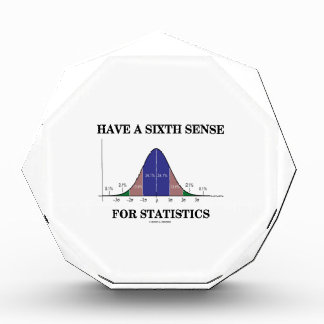Have A Sixth Sense For Statistics Bell Curve Acrylic Award