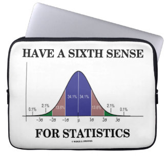 Have A Sixth Sense For Statistics Bell Curve Laptop Sleeve