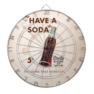 Have a Soda Vintage Advertisement Dartboard With Darts
