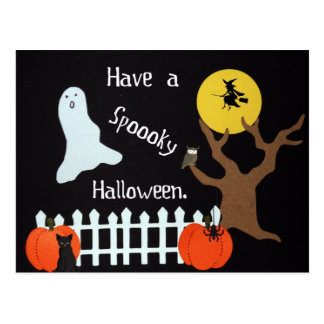 Have a spooky Halloween. Postcard