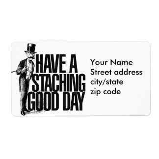Have a Staching good Day Label