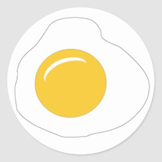 Have a Sunny Side Up day! Classic Round Sticker