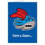 Hand shaped Have a Super Shark Valentine's Day Card